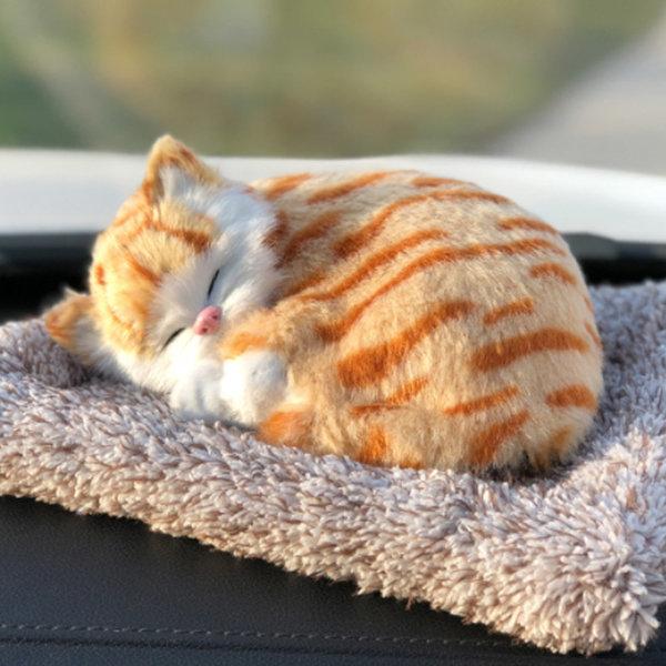대형 리얼펫 제습인형 갈색고양이/탈취인형 포켓 수납