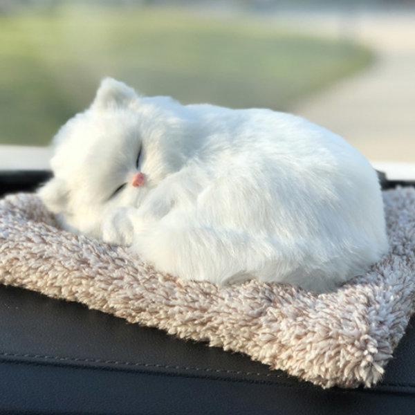 대형 리얼펫 제습인형 흰색고양이/탈취인형 포켓 수납