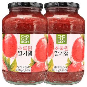 초록원 딸기잼 1kg + 1kg / 무료배송 / 최근제조일제품