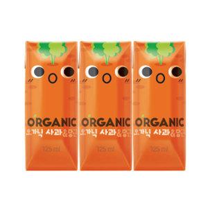오가닉 100% 유기농 주스 125ml x 24팩 (사과당근)