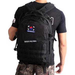 대용량 검정 군대 군인 전술 군용 가방 백팩 40L