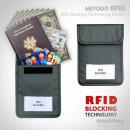 미토도 RFID 차단 파우치/여권 전자스캔 차단/가방