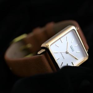 QB51J 여성용 가죽밴드 스퀘어 패션 손목시계 사각