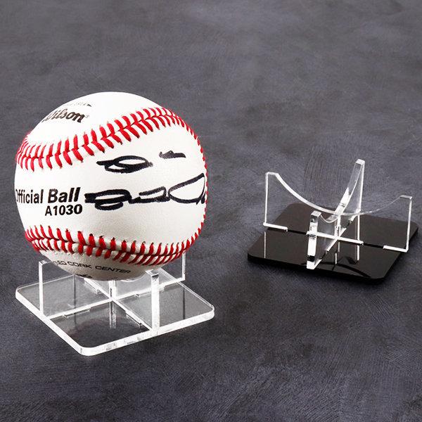 야구공 케이스 전시용 투명 받침대 EB1406B 사각 X자