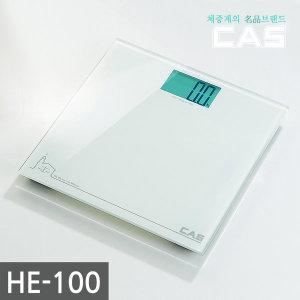 카스(CAS) 화이트백라이트 디지털 체중계 HE-100 1년AS