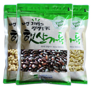 찰흑미/찹쌀현미/찰보리500g 총1.5kg 잡곡3종세트