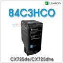 LEXMARK 파랑 정품토너 84C3HC0 (16000매) CX725de