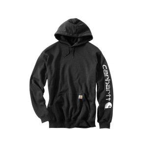 칼하트 미드웨이트 로고 후드 블랙 / K288-001