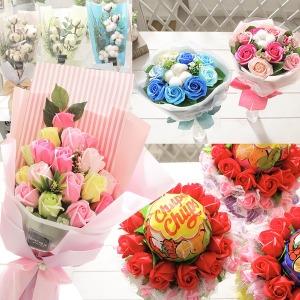 졸업식 입학식 재롱잔치 비누꽃 21종 꽃다발 꽃배달