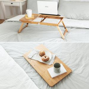 베드트레이 침대테이블 노트북거치대 독서대 접이식