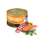 야옹이맘마 160g 참치+연어 12개/고양이간식캔/9795S