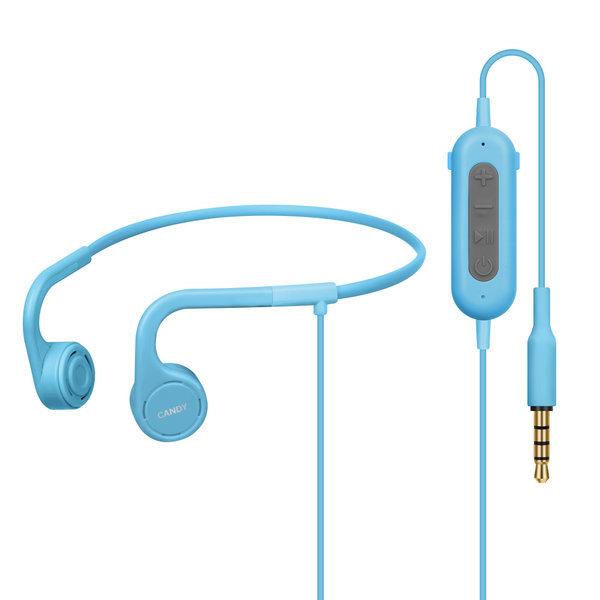 BE-Q1 블루 어린이용 골전도 헤드폰 IP55방수 청력보호
