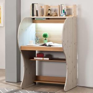 EONC 투톤 우드생 LED 독서실책상 + 원목책꽂이