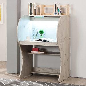 투톤우등생LED 독서실책상 + 원목책꽂이 실용적인 책상