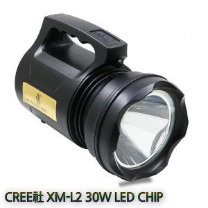 LED 충전식 손전등 작업등 랜턴 L2 서치라이트 Bb30W
