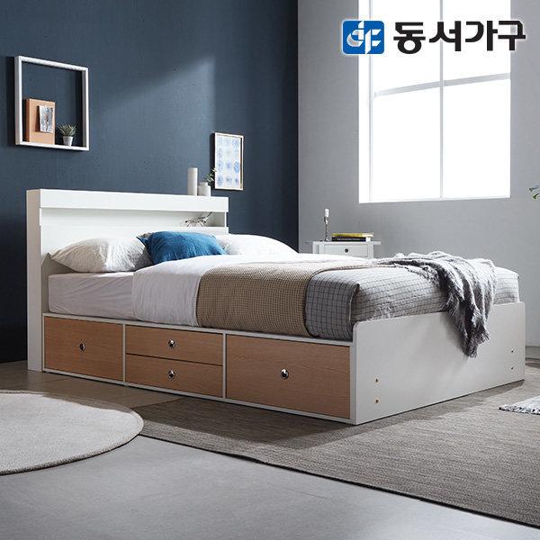 new 미휴 LED 4단서랍 슈퍼싱글침대 프레임 DF639585