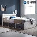 new 미휴 LED 4단서랍 슈퍼싱글침대+양면매트 DF639586