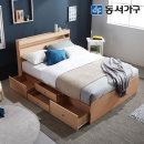 new 미휴 LED 4단서랍 퀸침대(양면매트리스) DF639591