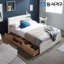 new 미휴 LED 4단서랍 퀸침대+9존독립매트 DF639593