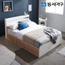 new 미휴 LED 4단서랍 퀸침대+케미컬폼매트 DF639594
