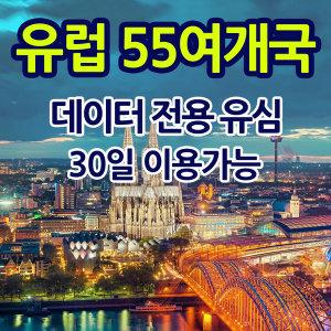 유럽 55개국 유심 미국 남미 30일 3G 데이터 5GB