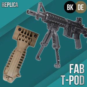 FAB T-POD/ 수직그립용 바이포드 (BK/DE)