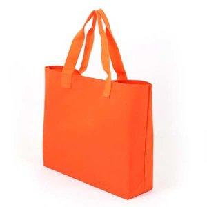 폴리에코백 오렌지 장바구니 판촉 도매 인쇄 1511360
