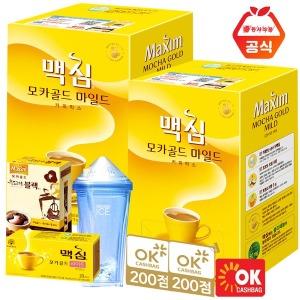 맥심 모카골드 커피믹스 320T+사은품/화이트
