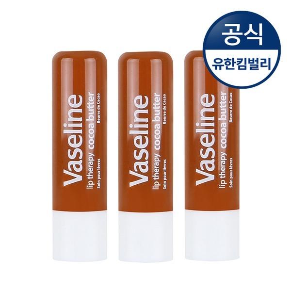 바세린 립테라피 코코아 케어스틱 4.8gX3/립밤