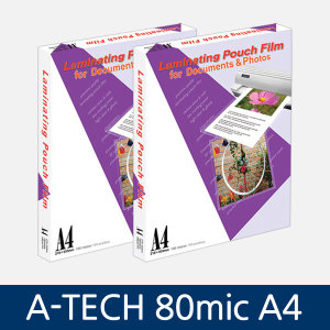 A-TECH 코팅지/기계코팅지/코팅필름 80mic A4 100매