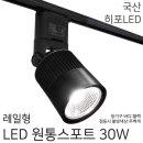 레일조명/레일등/레일형 원통스포트 30W(블랙)-주백색