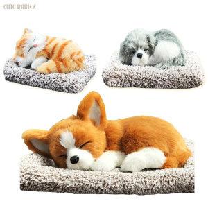 숯먹은 강아지 잠자는인형 고양이 제습 탈취 차량용품