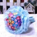꽃다발 로즈조아 큐티사탕부케 파랑 기념일 특별한 날