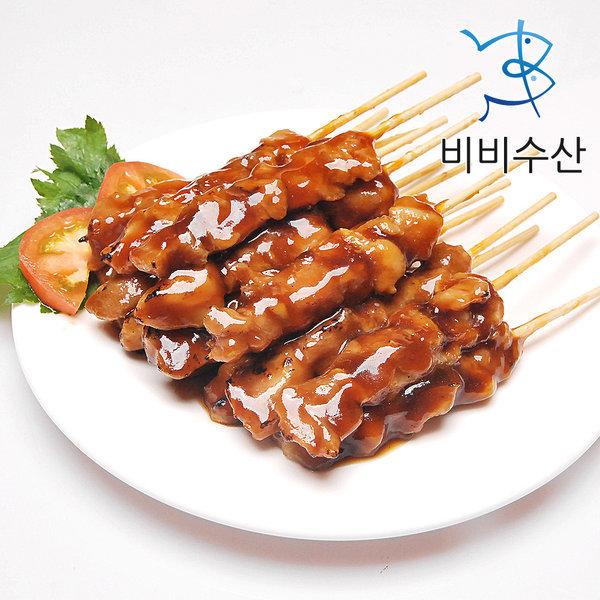 숯불 바베큐맛 닭꼬치 순한맛 20g(40개 800g)