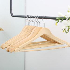 프리미엄 원목옷걸이 30P - 상품 이미지