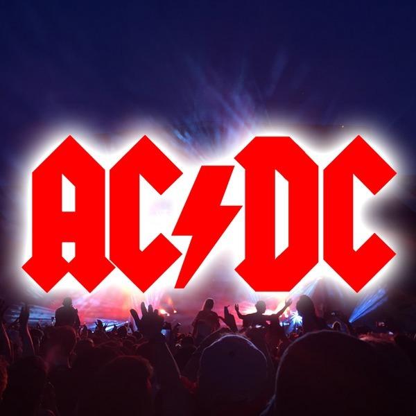 AC/DC 스티커-데칼 엠블럼 로고 하드록 헤비메탈 밴드