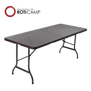 접이식 브로몰딩 테이블 우드 1800 캠핑 카페 야외 티