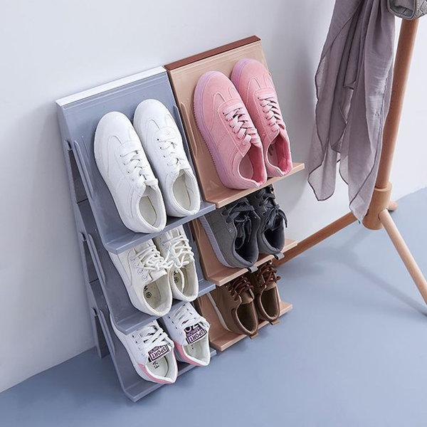좁은 현관 공간활용 신발정리대 신발장