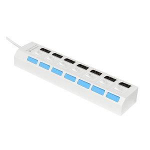 MBF-H07WH / USB2.0 7포트 무전원 허브 아답터미포함