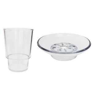 플라스틱 컵 비누 욕실물컵 비누대