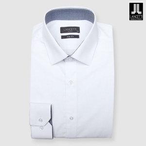 (신세계경기점)화이트 플레인 솔리드 슬림핏 긴소매셔츠 LZRTC70WH