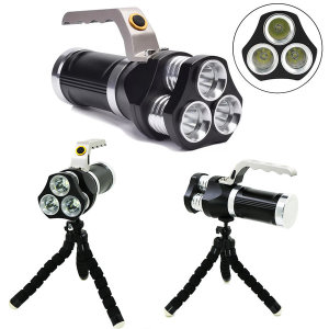 L2 3발 충전식 서치라이트 LED 손전등 3600루멘 삼각대