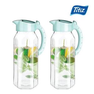 (1+1) 글라스 유리물병 1.5L / 물병 식탁물병 냉장고