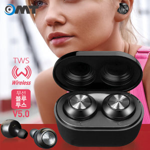 OMT 끊김없는 완전무선5.0 블루투스 이어폰 OBT-TWS50