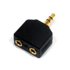이어폰 더블잭 Y플러그 오디오 스피커 컴퓨터 음향