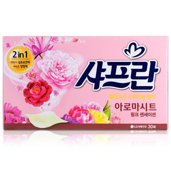 아로마시트 뽑아쓰는 섬유유연제 핑크센세이션 30매