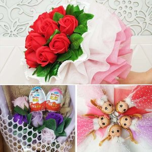 DOUM/사탕부케만들기재료/비누꽃재료/꽃다발/킨더조이