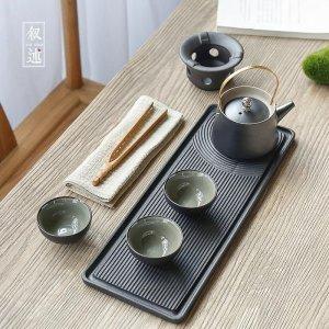 일본식 가정용 도자기 찻잔 주전자 다도세트