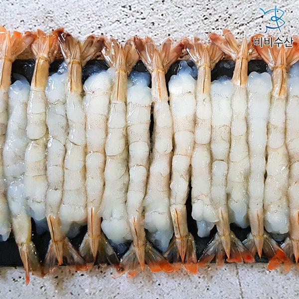 껍질없는 튀김용 새우 A급 노바시새우 40미