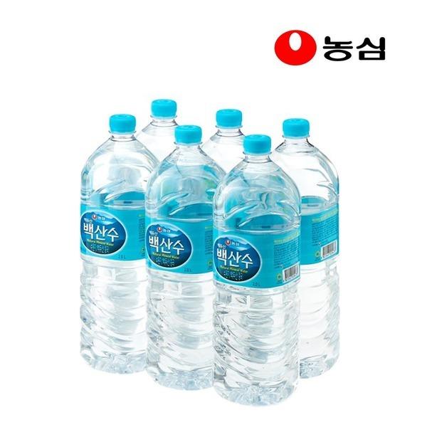 농심 백산수2Lx6병/암반수/샘물/생수/물